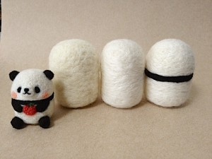 羊毛フェルト パンダ
