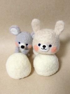 羊毛フェルト ネズミ うさぎ