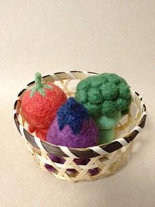 羊毛フェルト 野菜