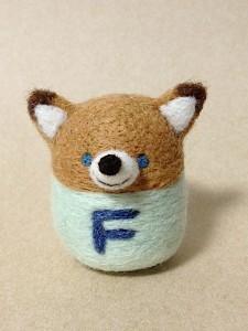 羊毛フェルト きつね