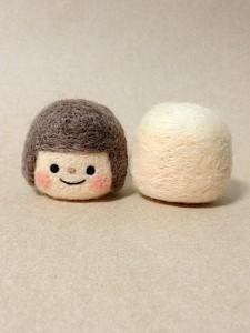 羊毛フェルト 女の子制作中