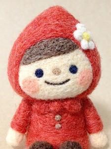 羊毛フェルト 赤ずきん