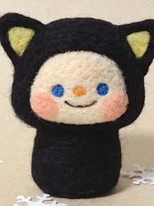 羊毛フェルト ネコの着ぐるみ