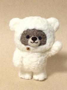 羊毛フェルト クマ