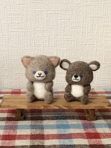 羊毛フェルト ネコ ネズミ