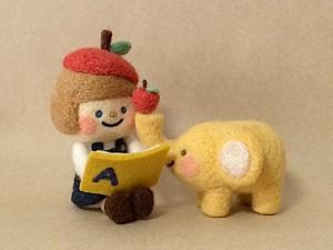 羊毛フェルト chai