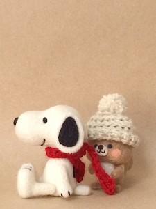 羊毛フェルト スヌーピー