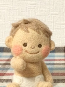 羊毛フェルト 赤ちゃん