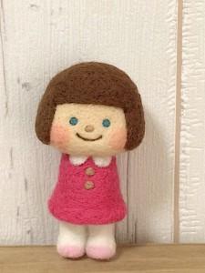 女の子 羊毛フェルト