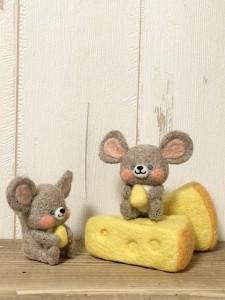 羊毛フェルト ネズミ