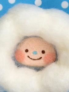 羊毛フェルト 雨粒