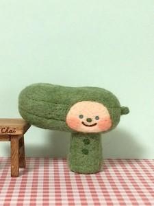 羊毛フェルト きゅうり
